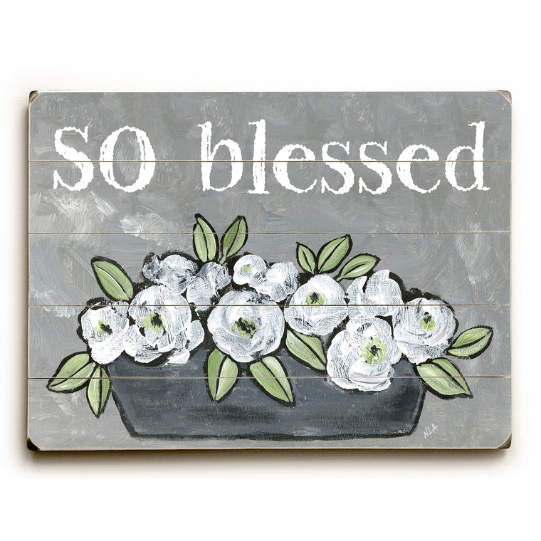 So Blessed Wood Wall Decor by Nancy Anderson