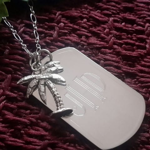 Palm Tree Dog Tag