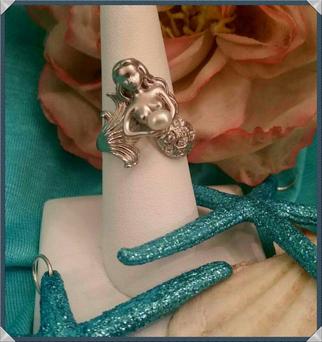 Mermaid  With A Pearl Ring