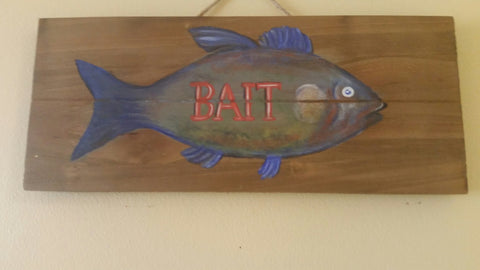 Bait - handpainted sign