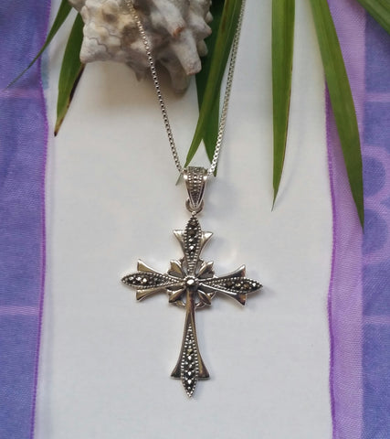 Ornate Marcasite Cross