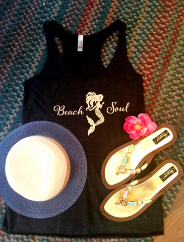 Beach Soul Mermaid Tank Top