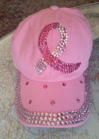 Pink Awareness Bling Hat