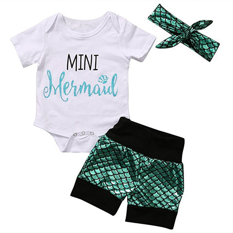 Mini Mermaid Onesie Set