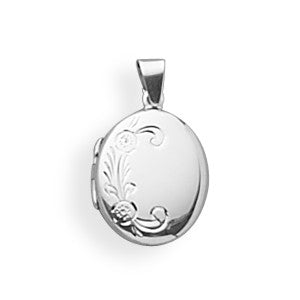Small Polished Silver Locket