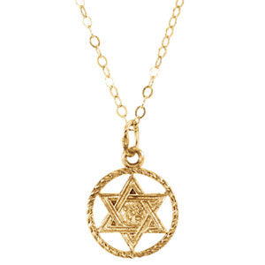 14k Baby Star of David Pendant.