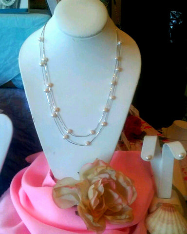 Double Strand Tin Cup Necklace
