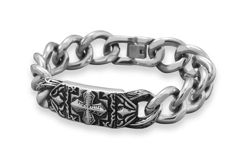 "Stainless Steel  Men's 9"" Bracelet"