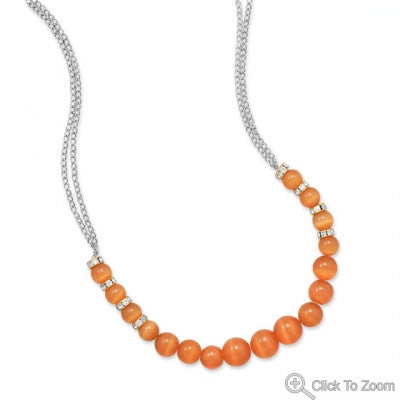 Coral Graduated Beaded Necklace