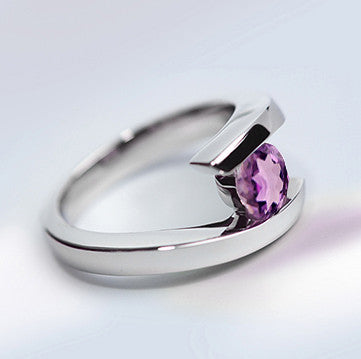 Classic Amethyst Bypass Ring.
