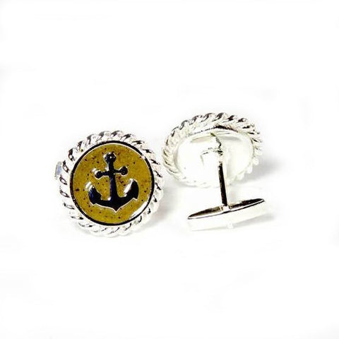Sand Anchor Cuff Links