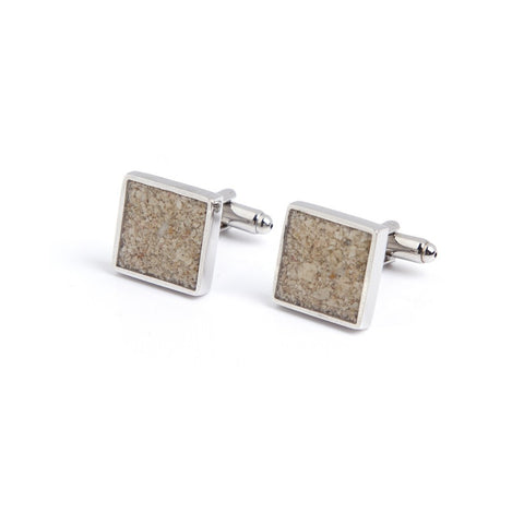 Square Sandy Cuff Links