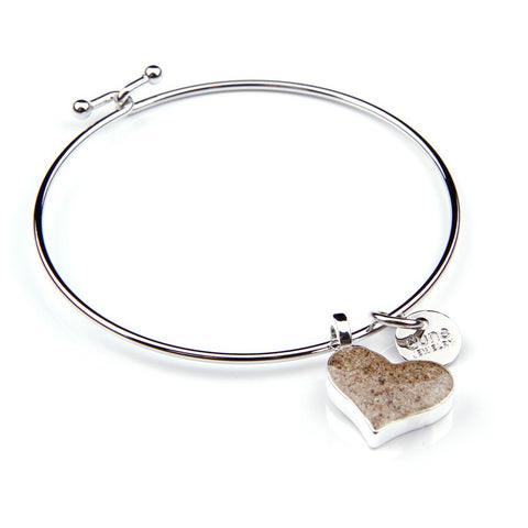 Beach Bangle Heart Bracelet