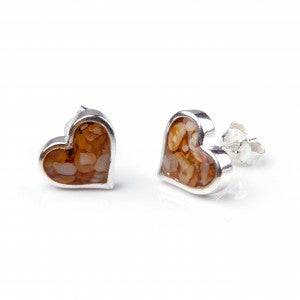 Sand Jewel Heart Earrings