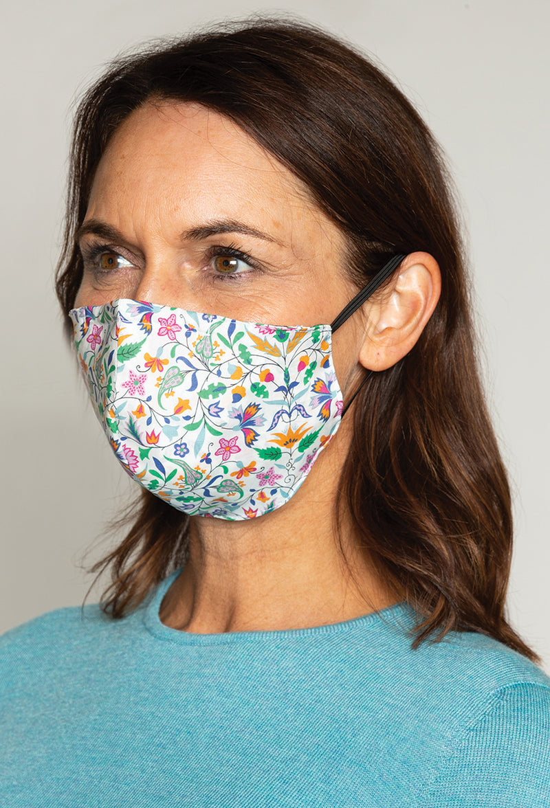 Liberty and Checked 100% Cotton Face Masks