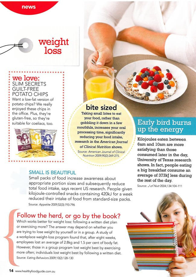 Healthy Food Guide: Slim Secrets Chips - November 2009