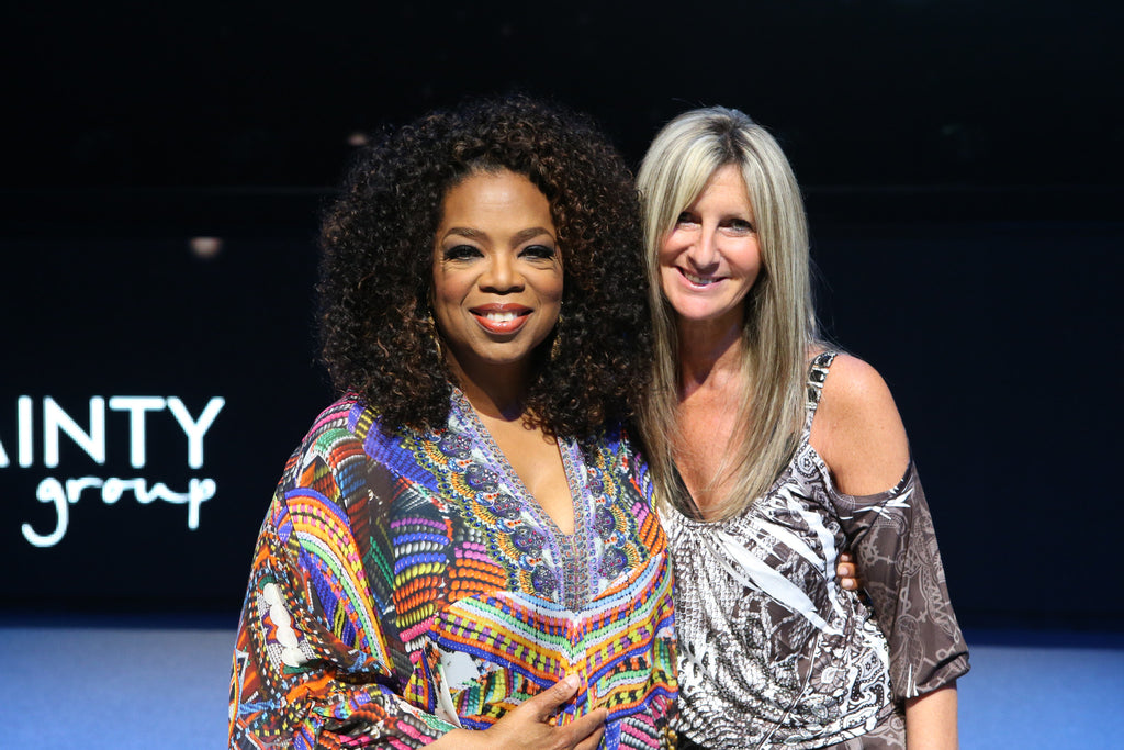 Slim Secrets' Founder & CEO Sharon Thurin with Oprah Winfrey