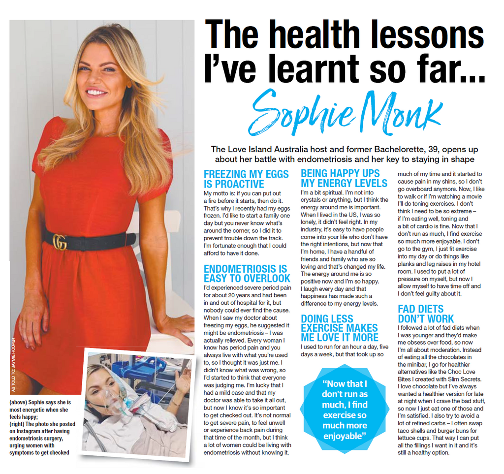 THE SUNDAY TELEGRAPH - SOPHIE MONK - THE HEALTH LESSONS I'VE LEARNT SO FAR