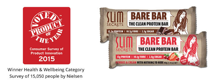 The Secret's Out… Slim Secrets Bare Bar, Voted No. 1 Product of the Year 2015