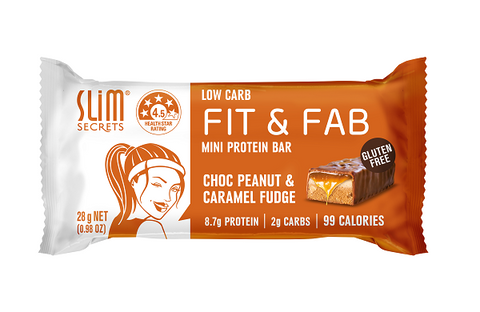 Low Carb Fit & Fab Choc Peanut & Caramel Fudge