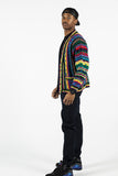 Vintage Coogi Pre-1987 Multi-Color Wool Cardigan Sz M