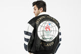 Vintage 1996 Olympic Leather Jacket Sz M