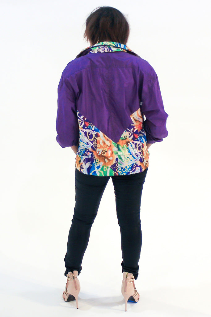 "Vintage 90s ""Grafitti"" Windbreaker Sz M"