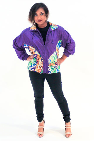 Vintage 90s Multi-Color Windbreaker Sz L