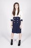 Vintage 80s Navy & Ivory Sailor Dress Sz 6