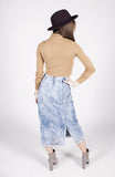 Vintage 90s Acid Wash Long Denim Skirt Sz 4