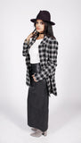 Vintage Wool & Silk Blend Plaid Coat Sz 4