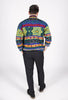 Vintage 80s Multi-Color Knit Sweater Sz M