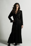 Vintage 80s Saint Laurent Black Satin Dress Sz 6
