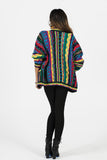 Vintage Coogi Pre-1987 Multi-Color Wool Cardigan Sz L