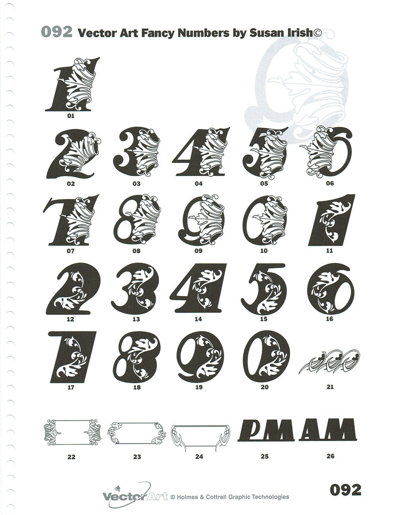 Artwork Pages 74 92 Single Letters And Symbols Custom Engraving
