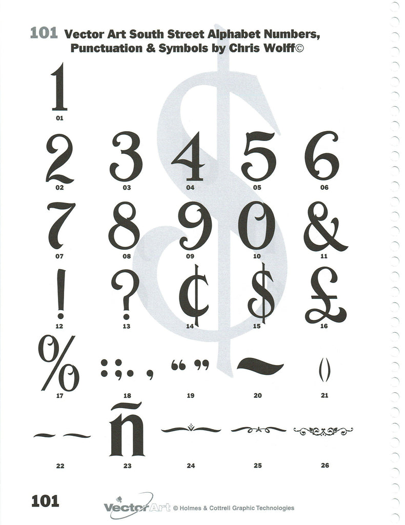 Artwork Pages 93 104 Single Letters And Symbols Custom Engraving