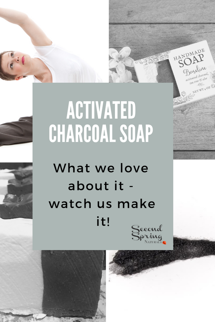 Making Activated Charcoal and Goat Milk Soap