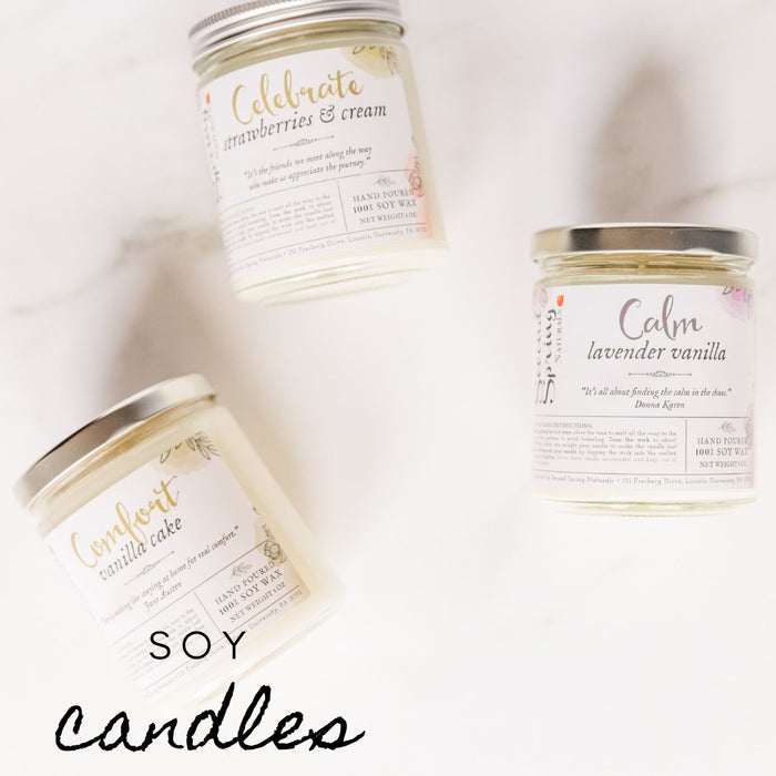 Soy Candles with Quotes