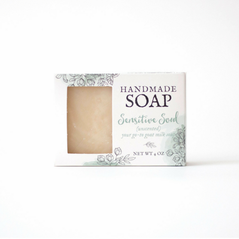Unscented Goat Milk Soap - Sensitive Soul