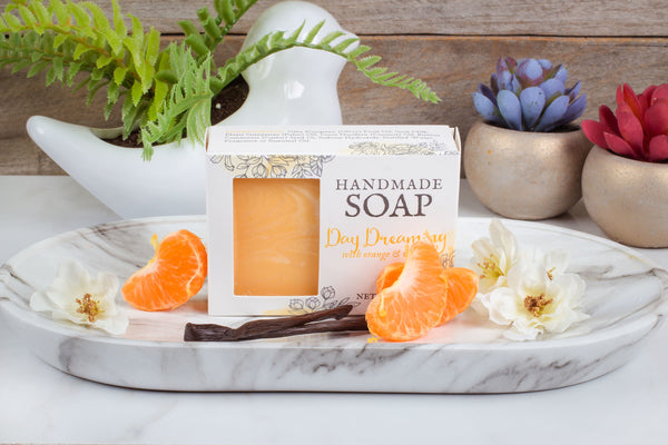 orange cream goat milk soap