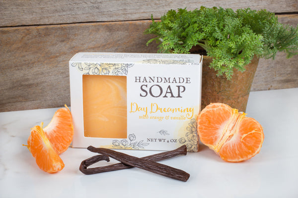 skin softening vanilla orange soap