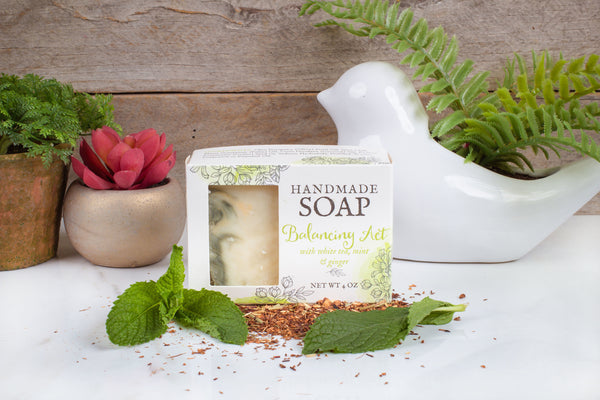 White tea ginger natural soap