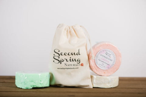 Soap  Gift Set with 4 items  - Loofahs Lotion bar and Lip Balm