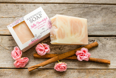floral citrus rose clay soap