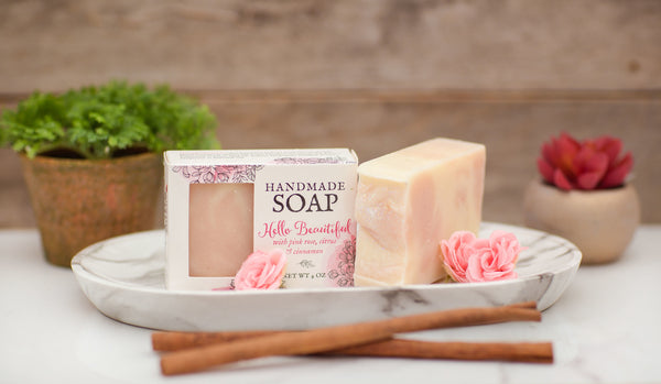 Floral and Citrus Rose Clay Soap - Hello, Beautiful!