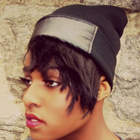 Leather Brim Beanie