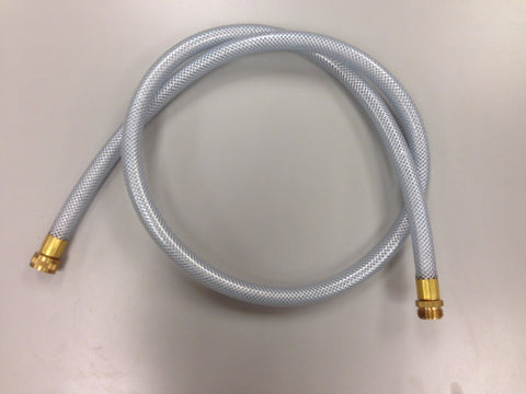 6' HD Clear Hose with Fiber Wrap