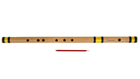 Bansuri Indian Flute, Sarfuddin, Scale G Natural Bass 25.5 Inches, Concert Quality, Indian Bansuri Bamboo Flute, Perfectly Tuned, Hindustani Bansuri, Includes Nylon Pipe Bag (SM-DGC)