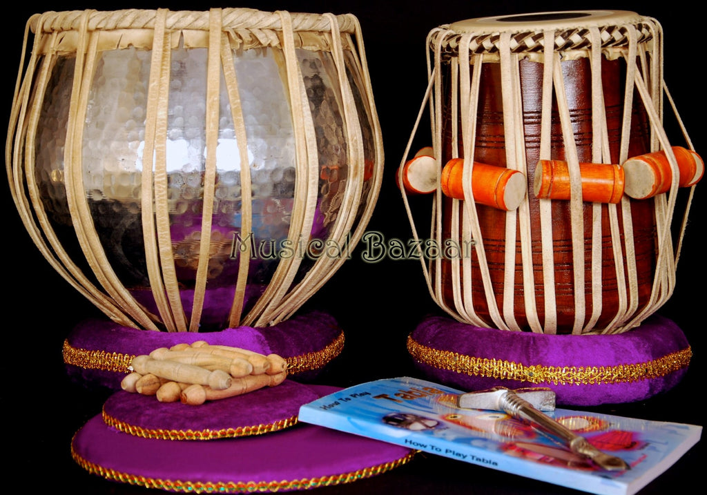 SANSKRITI MUSICALS Tabla Set - Copper Bayan 5½ KG - Sheesham Dayan - AAD