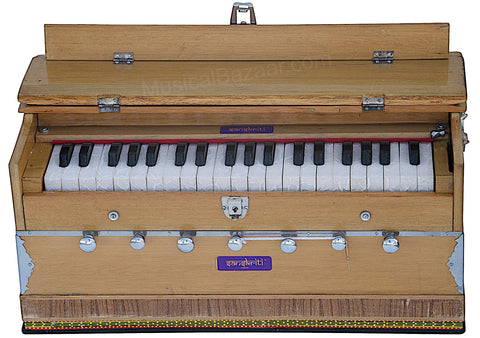 SANSKRITI MUSICALS Harmonium - A440 - 7 Stopper, With Coupler - ABF